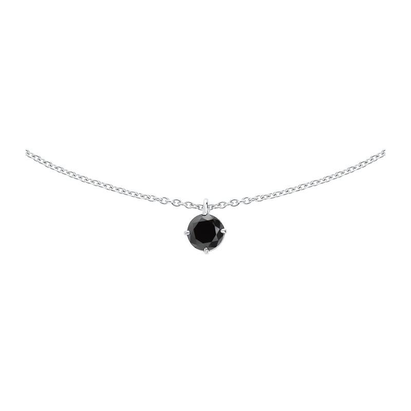 pendentif diamant noir