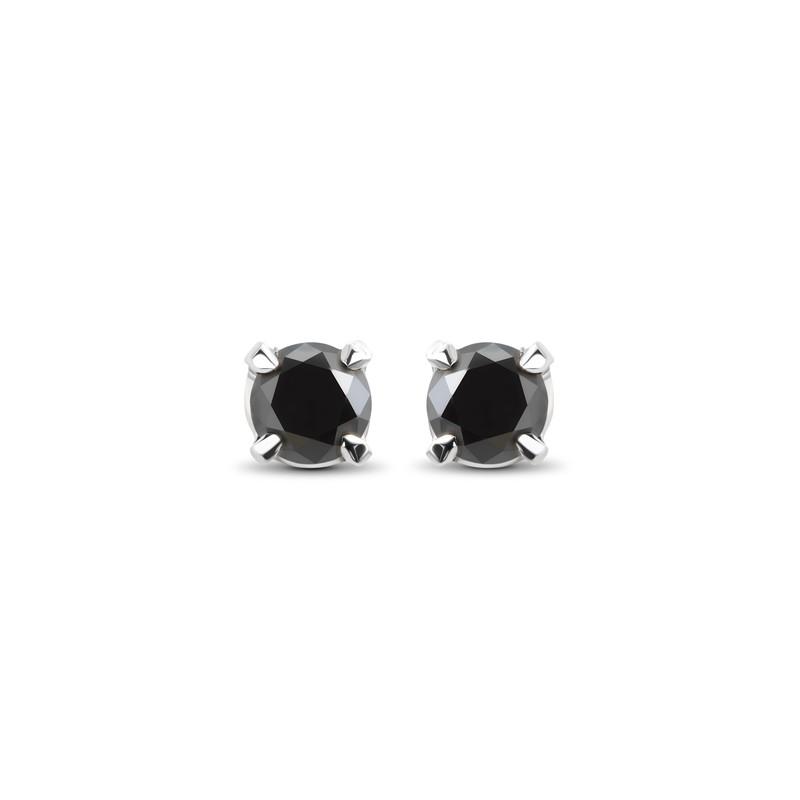 Boucles d'oreilles diamants noir
