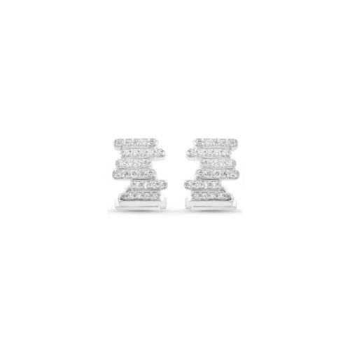 Boucles d'oreilles diamants or blanc