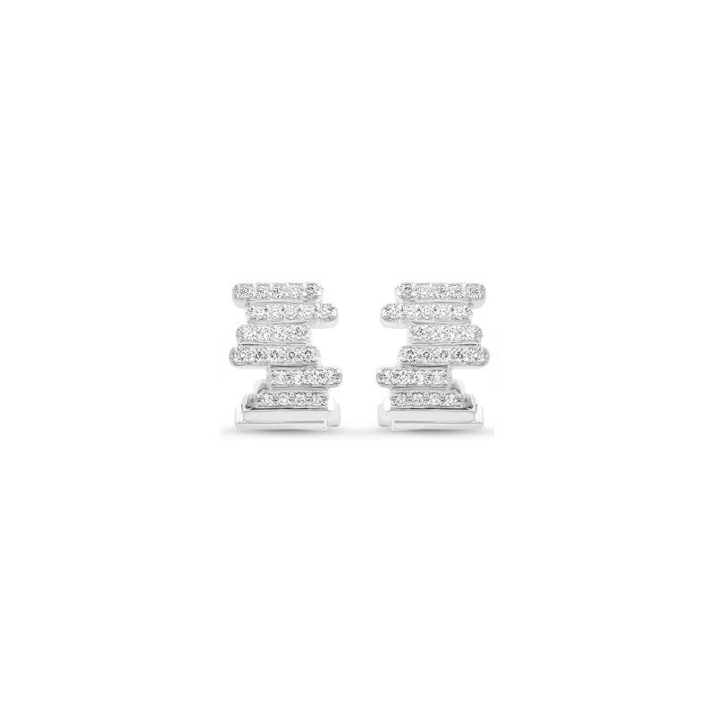 Boucles d'oreilles diamants or blanc