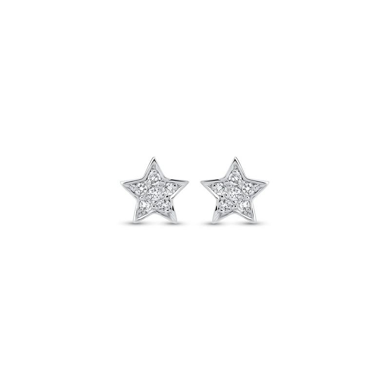 Boucles d'oreilles étoiles diamants