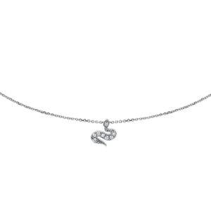 pendentif serpent diamants
